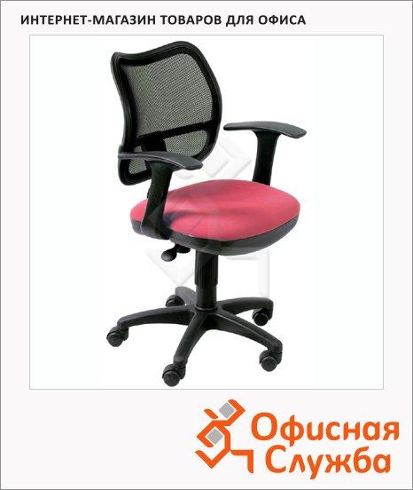 фото: Кресло офисное Бюрократ CH-797AXSN ткань черная, крестовина пластик, красная