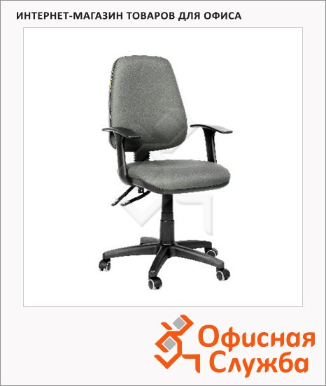 фото: Кресло офисное Chairman 661 ткань серая, крестовина пластик