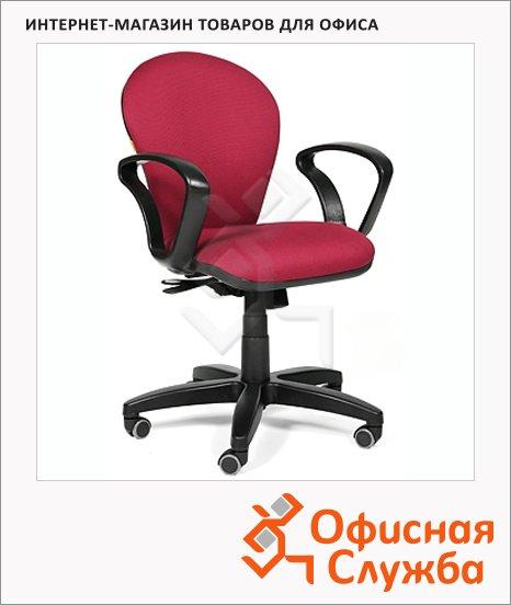 Кресло офисное Chairman 684 ткань, TW, крестовина пластик, NEW, бордовая