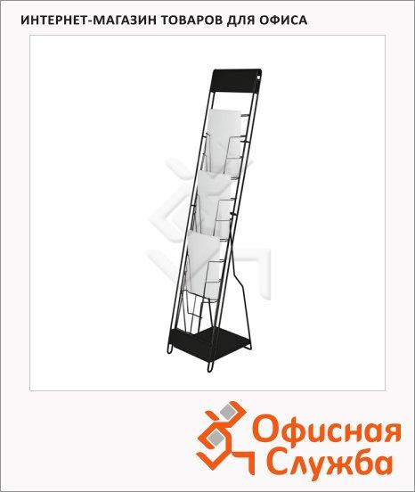 фото: Подставка для буклетов напольная Magnetoplan 200 А4 137см, черная