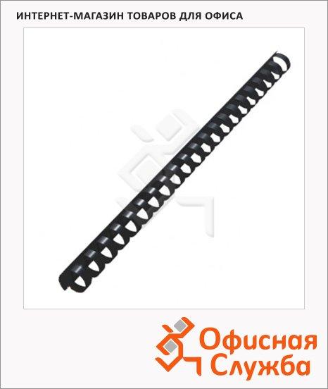 Пружины для переплета пластиковые Office Kit черные, на 120-140 листов, 16мм, 100шт, кольцо, BP2050