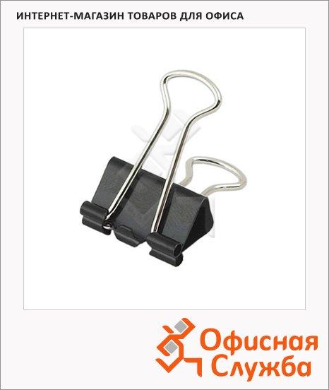 Зажимы для бумаг Office Force 15мм, черные, 12шт/уп