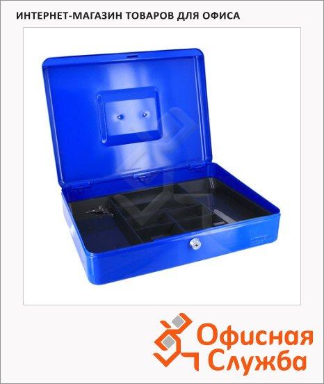 фото: Кэшбокс Office Force TS0001 9х28х37см, ключевой замок, синий