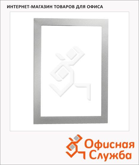Настенная магнитная рамка Durable Duraframe А5, самоклеящаяся, 2шт, серебристая, 4871-23