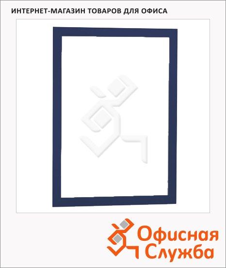 Настенная магнитная рамка Durable Duraframe А4, самоклеящаяся, 2шт, синяя, 4872-07