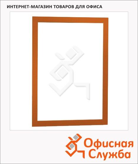 фото: Настенная магнитная рамка Duraframe А4 самоклеящаяся, 2шт, оранжевая, 487209