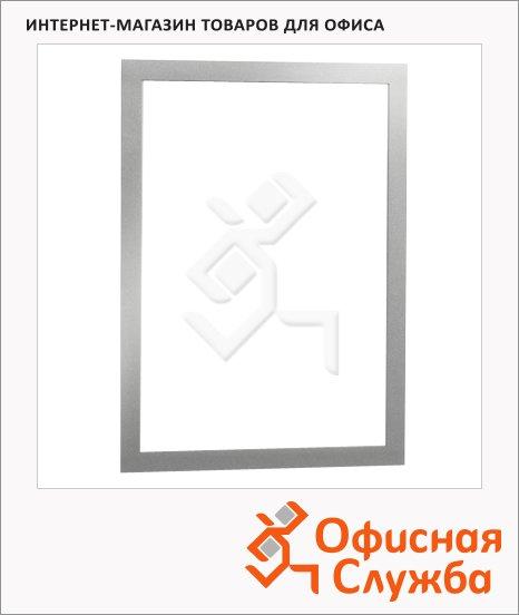 Настенная магнитная рамка Durable Duraframe А4, самоклеящаяся, 2шт, серебристая, 4872-23
