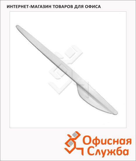фото: Нож одноразовый Мистерия белый 16.5см, 100шт/уп