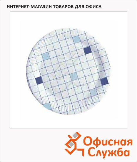 фото: Тарелка одноразовая Huhtamaki d=15см клетка, 100шт/уп