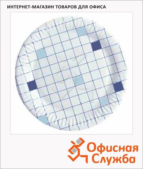 фото: Тарелка одноразовая Huhtamaki d=23см клетка, 50шт/уп
