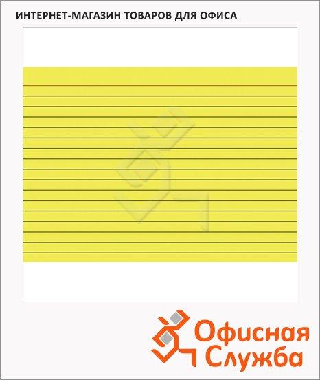 Карточки для картотеки Brunnen А5, линованные, 100шт, желтые