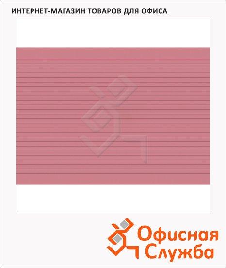 Карточки для картотеки Brunnen А6, линованные, 100шт, красные