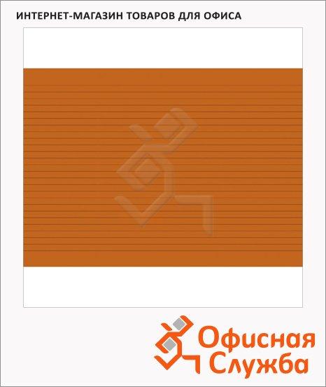 Карточки для картотеки Brunnen А6, линованные, 100шт, оранжевые