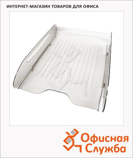 фото: Лоток горизонтальный для бумаг Оскол-Пласт Элегант А4 прозрачный, 9021