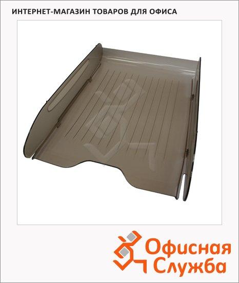 фото: Лоток горизонтальный для бумаг Оскол-Пласт Элегант А4 дымчатый, 9022