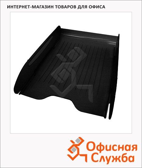 фото: Лоток горизонтальный для бумаг Оскол-Пласт Элегант А4 черный, 9023