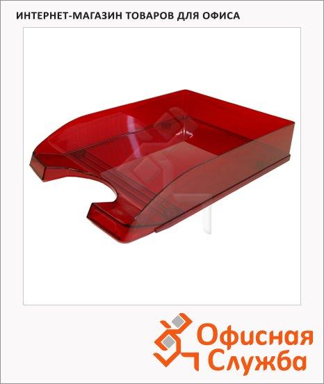 Лоток горизонтальный для бумаг Оскол-Пласт А4, красный, 9031