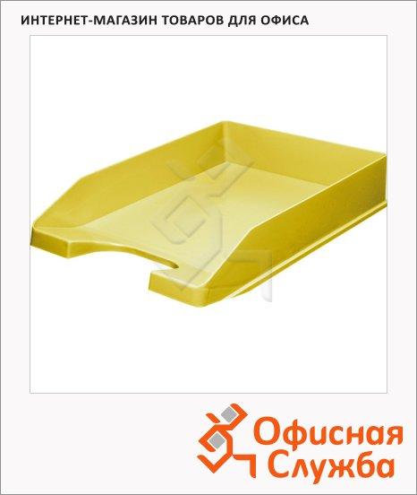 фото: Лоток горизонтальный для бумаг желтый 9037