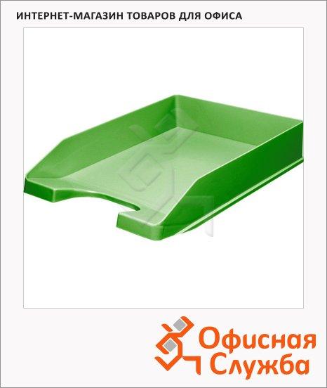 фото: Лоток горизонтальный для бумаг Оскол-Пласт А4 зеленый, 9039