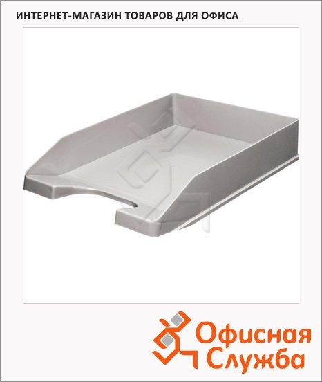 фото: Лоток горизонтальный для бумаг Оскол-Пласт А4 серый, 9057