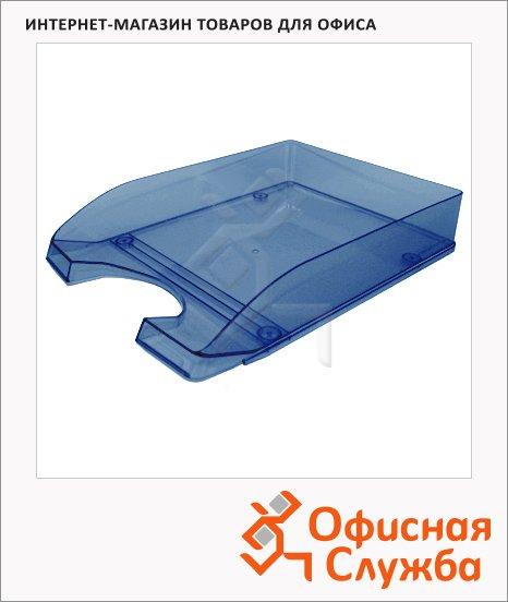 фото: Лоток горизонтальный для бумаг Оскол-Пласт А4 синий, 9034