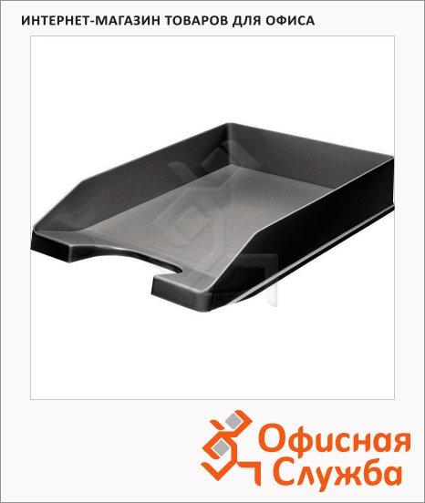 фото: Лоток горизонтальный для бумаг Оскол-Пласт А4 черный, 9035