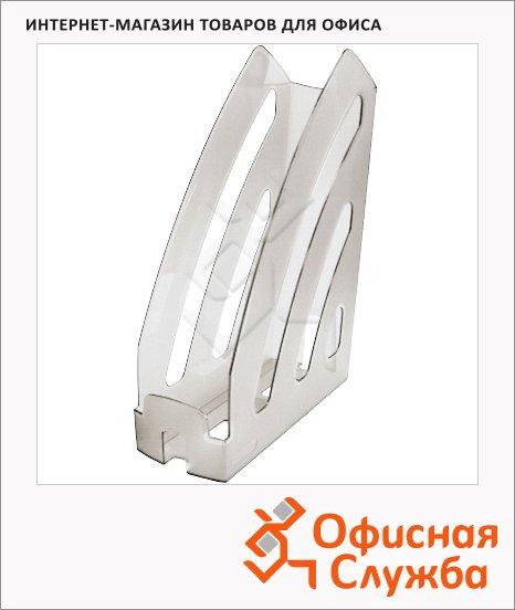 фото: Накопитель вертикальный для бумаг Оскол-Пласт Элегант А4 87мм, прозрачный, 9041