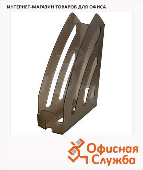 фото: Накопитель вертикальный для бумаг Оскол-Пласт Элегант А4 87мм, тонировка, 9042