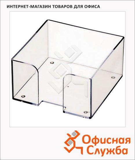 Подставка для бумажного блока Оскол-Пласт прозрачная, пластик, 9х9х4.5см