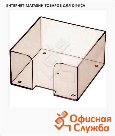 фото: Подставка для бумажного блока Оскол-Пласт тонированная пластик, 9х9х4.5см