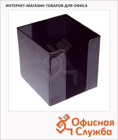 Подставка для бумажного блока Оскол-Пласт черная, 9х9х9см, пластик