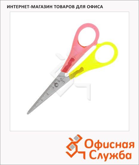 Ножницы для левшей Brunnen 13см, красно-желтые