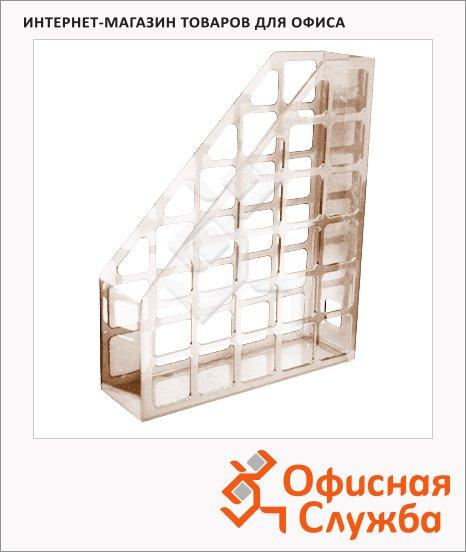 Накопитель вертикальный для бумаг Оскол-Пласт А4, 70мм, дымчатый, 9052