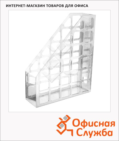 Накопитель вертикальный для бумаг Оскол-Пласт А4, 70мм, прозрачный, 9053