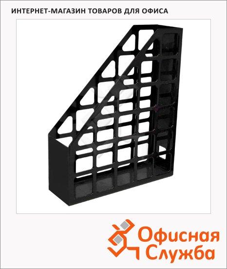 фото: Накопитель вертикальный для бумаг Оскол-Пласт А4 70мм, черный, 9056
