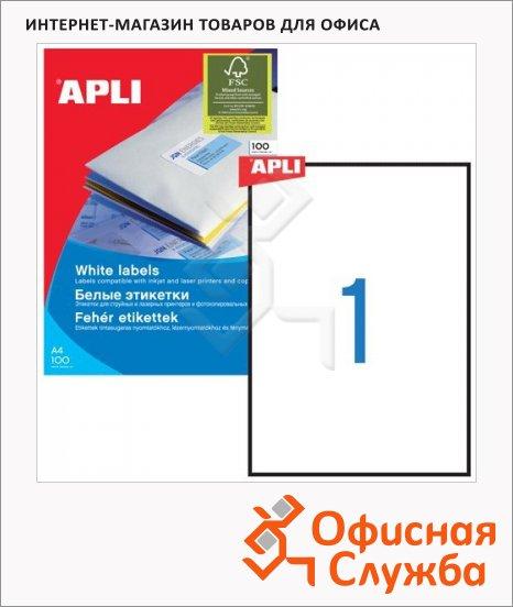 Этикетки белые Apli 10819 3141, 100шт