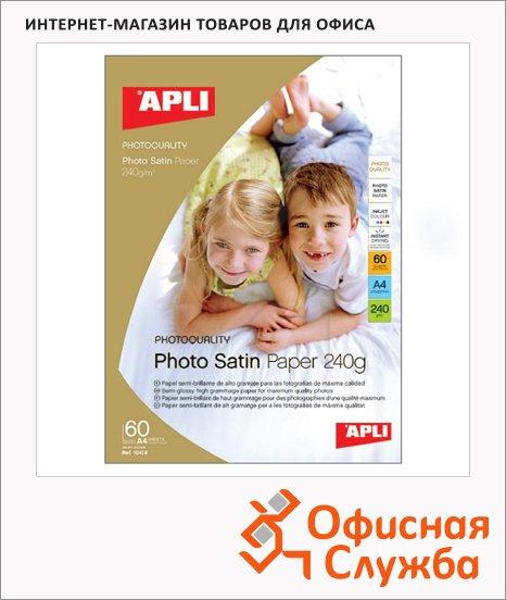 ���������� ��� �������� ��������� Apli Photo Satin �4, 25 ������, 240 �/�2, �������, 10415