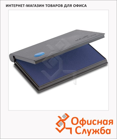 фото: Штемпельная настольная подушка Colop Micro 1 90х50мм краска на водной основе, синяя