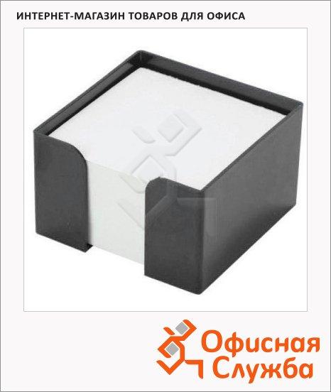 Подставка для бумажного блока Оскол-Пласт черная, пластик, 9х9х4.5см