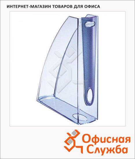 Накопитель вертикальный для бумаг Leitz Allura А4, 75мм, голубой, 52010005