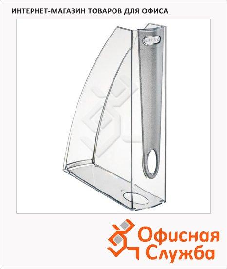 фото: Накопитель вертикальный для бумаг Leitz Allura А4 75мм, дымчатый, 52010002