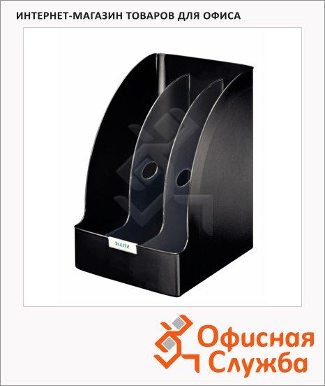 Накопитель вертикальный для бумаг Leitz Plus Jumbo А4, 3 секции, 70мм, черный, 52390095