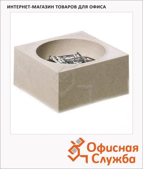 Скрепочница Durable Cubo Eco бежевая