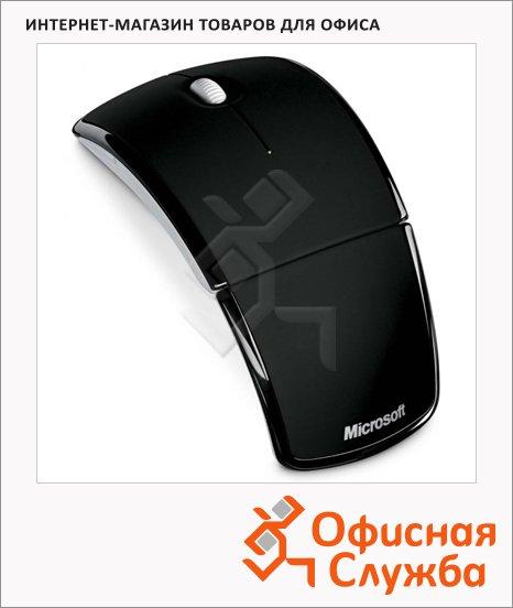фото: Мышь беспроводная оптическая USB Arc 1000dpi, черная