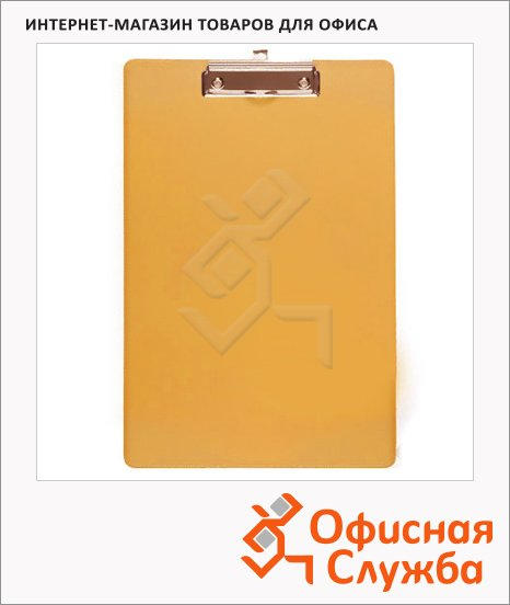 Клипборды без крышки Bantex оранжевая, А4, 4201-12