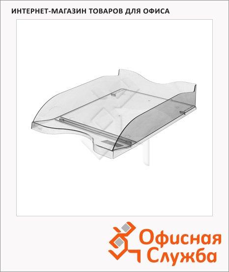 Лоток горизонтальный для бумаг Стамм Люкс А4, прозрачный, ЛТ61