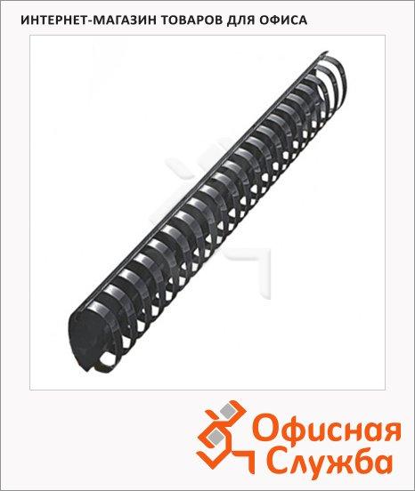 Пружины для переплета пластиковые Office Kit черные, на 300-350 листов, овал, 45мм, 50шт, BP2120