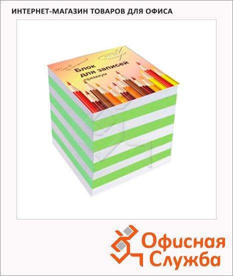 Блок для записей непроклеенный цветной, зебра, 90х90мм