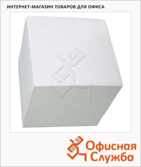 Блок для записей на склейке белый, 9х9х9см, офсет