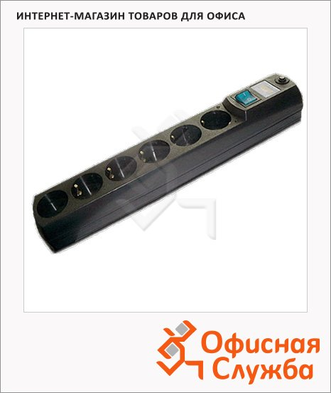 Сетевой фильтр Most HV6 6 розеток, черный, 2м